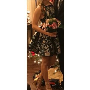 Urban Outfitters black floral formal dress